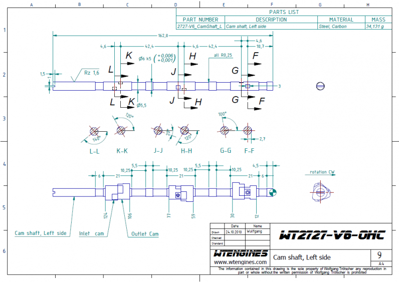 Cam construction drawing